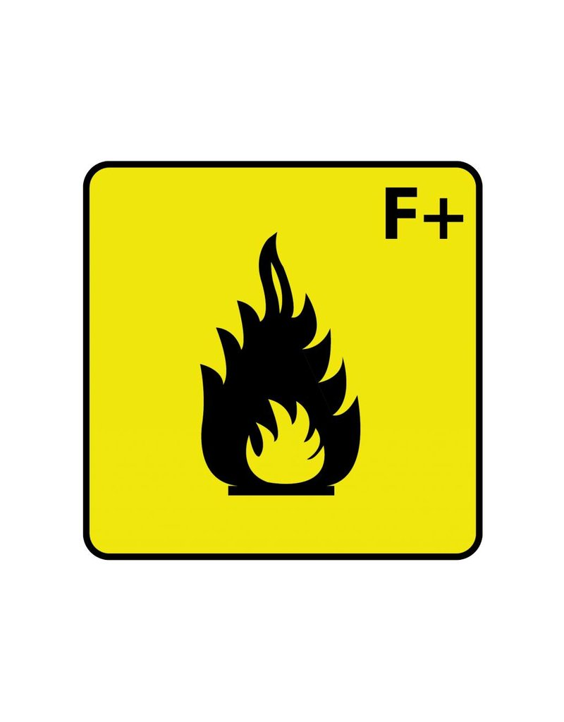 Flammable F+ Sticker