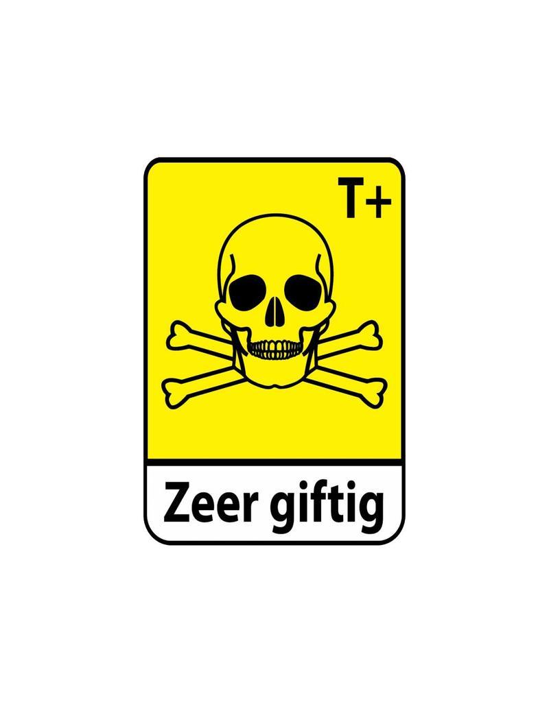 Pegatina muy tóxico T+1