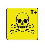 Sehr giftig T+ Aufkleber