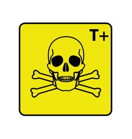 Highly toxic T+ Sticker