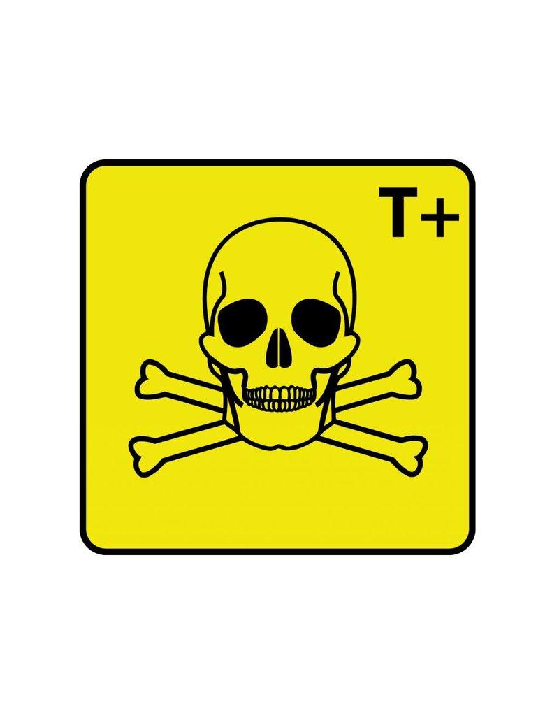 Muy tóxico T+ pegatina