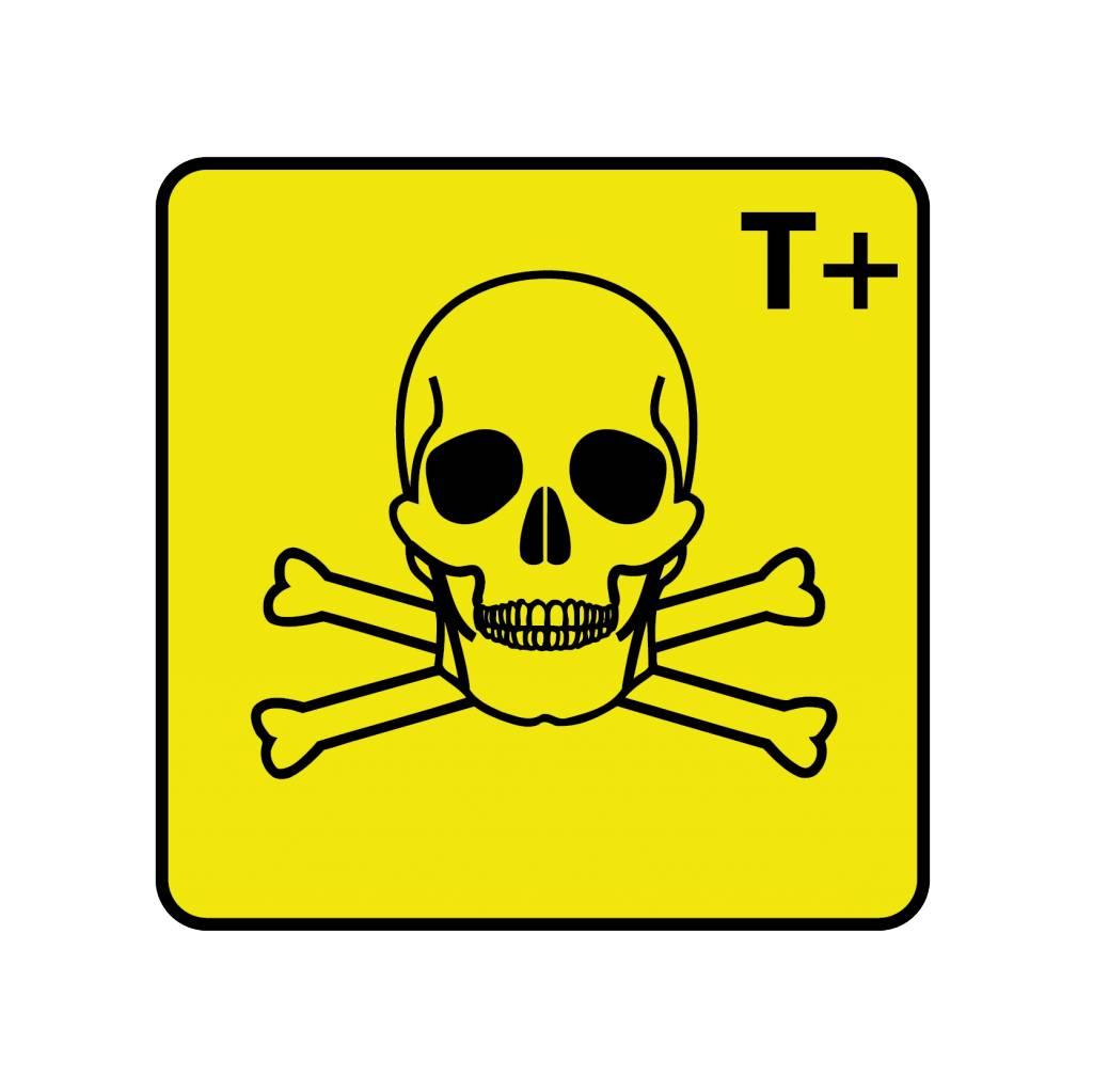 Zeer giftig T+ Sticker