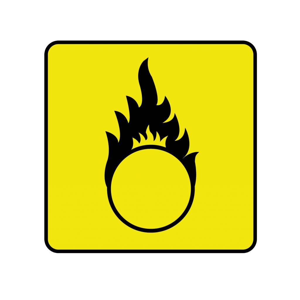 Warnung vor brandfördernden Stoffen Aufkleber