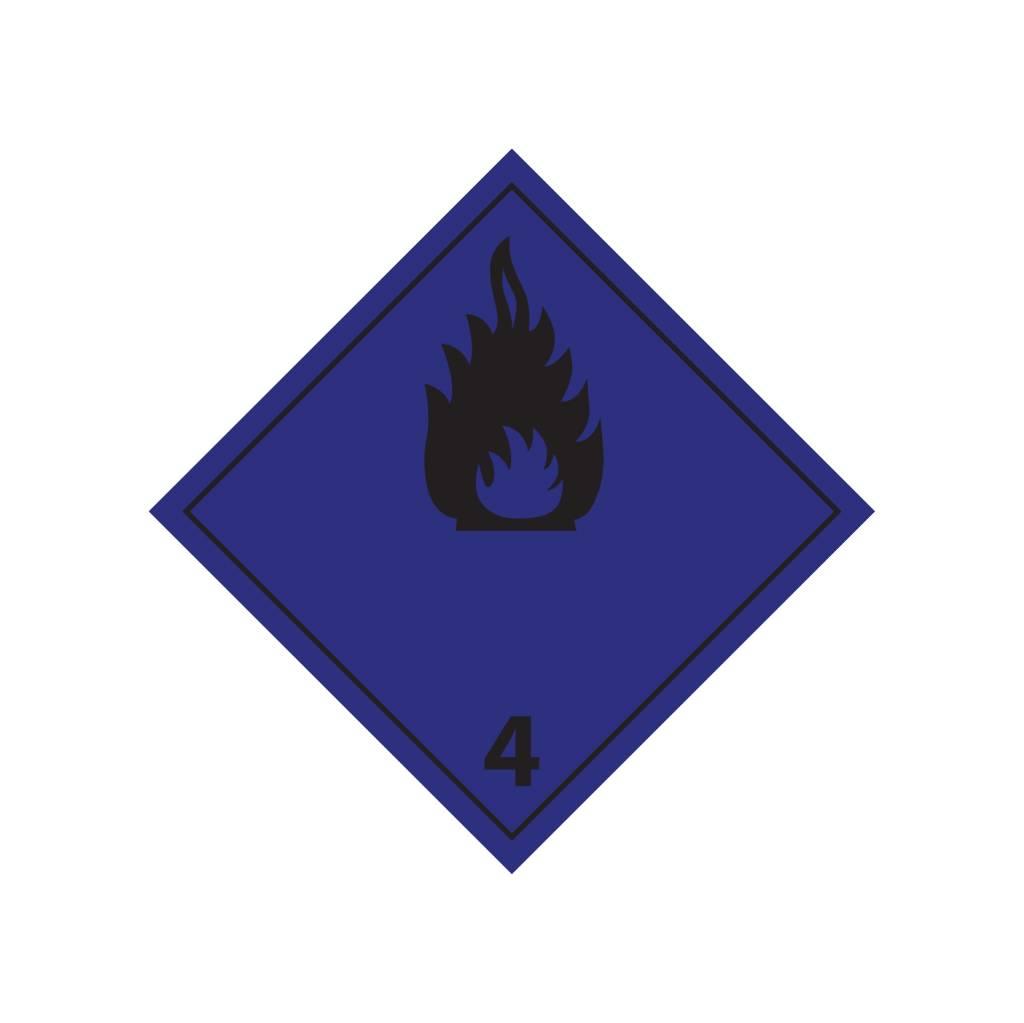 brandbare gassen in contact met water Sticker
