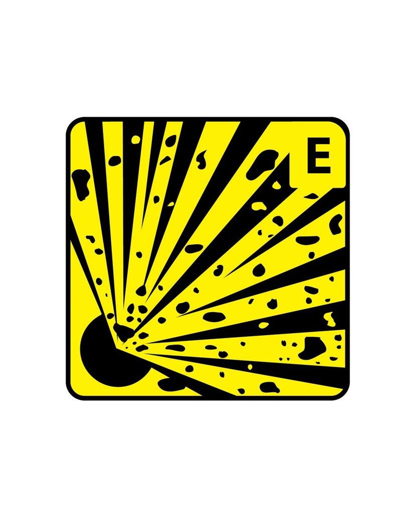 Explosion E Sticker