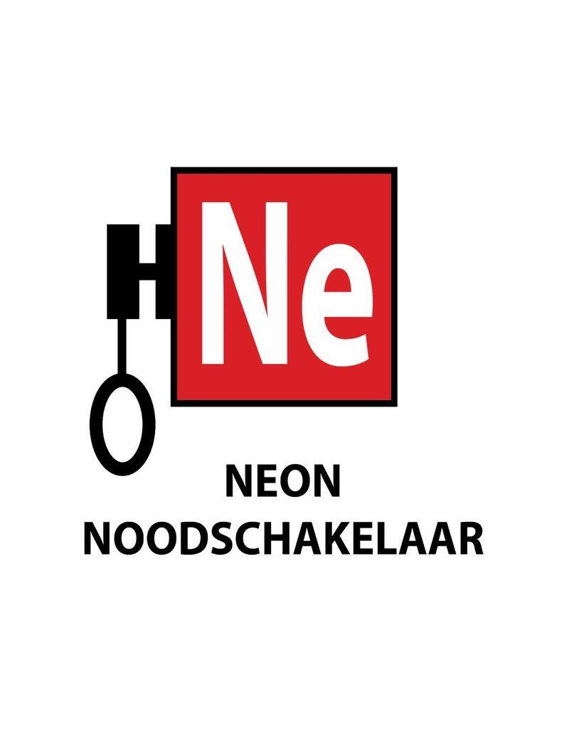 """Pegatina """"Neon noodschakelaar"""