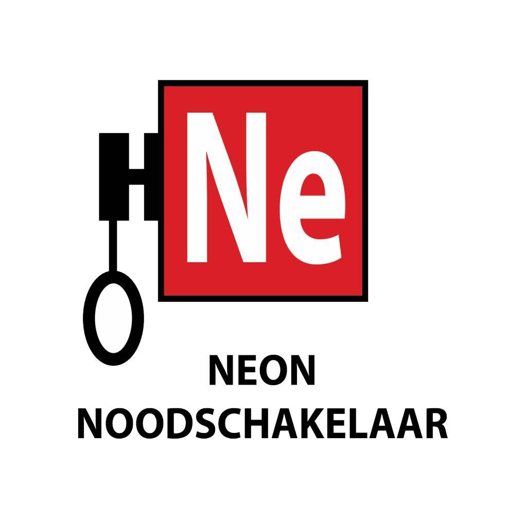 Neon noodschakelaar Sticker