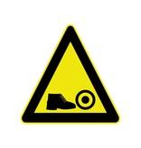 Gefahr vor Füße Aufkleber