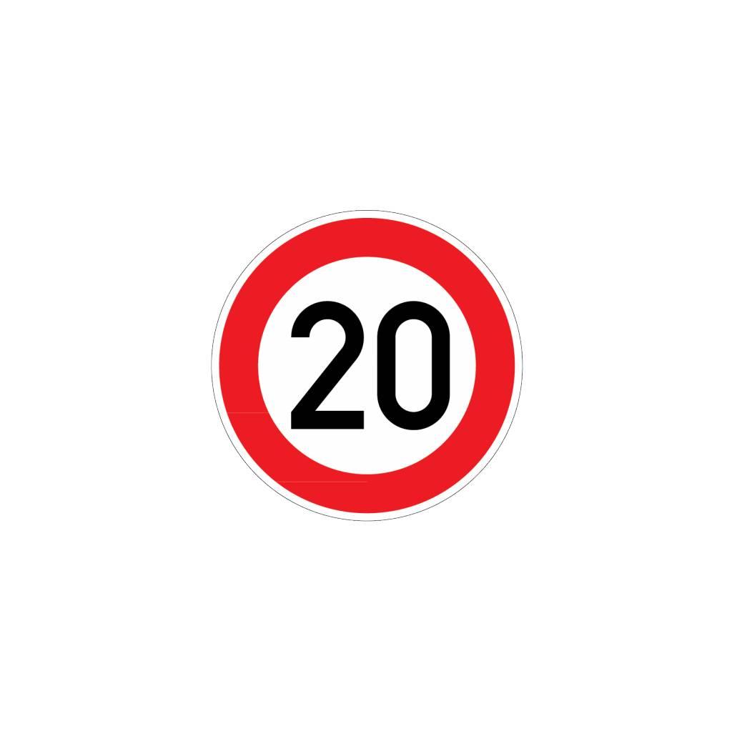 Max Speed 20 Km Dr Sticker
