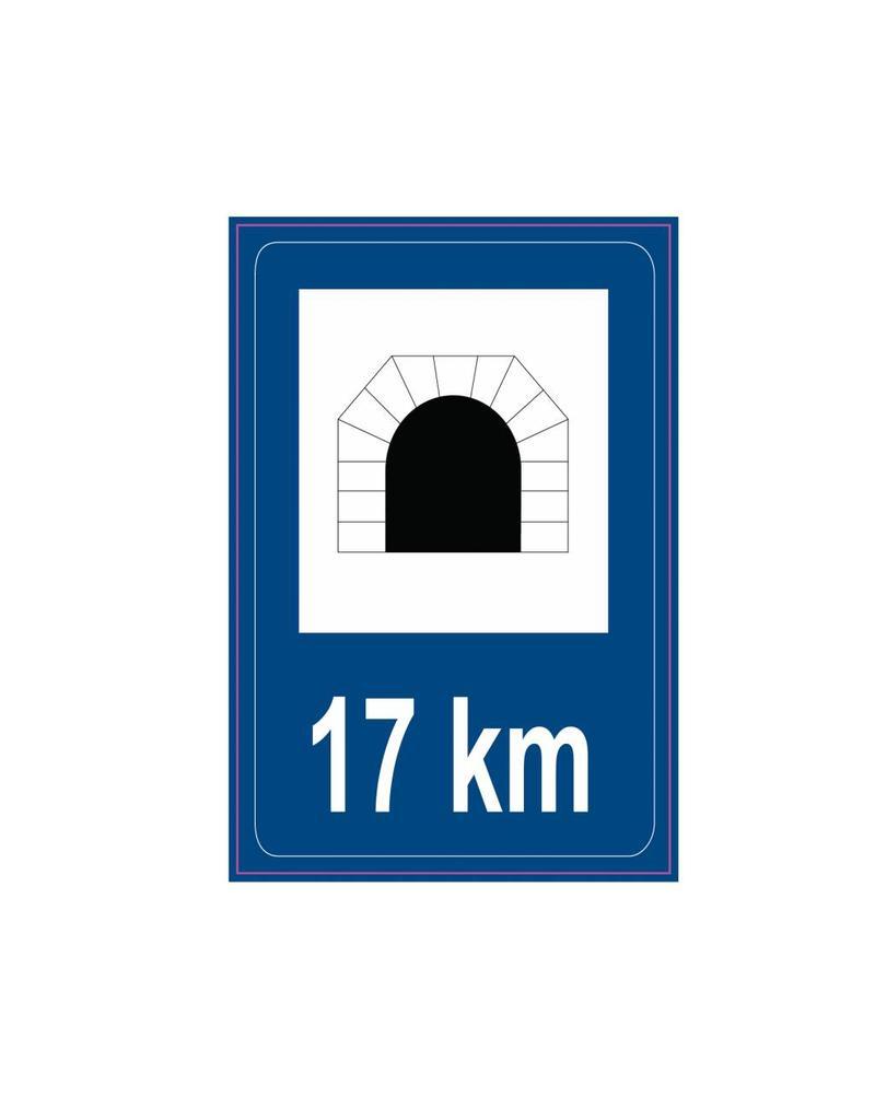 Tunnel routier de plaque de modèle