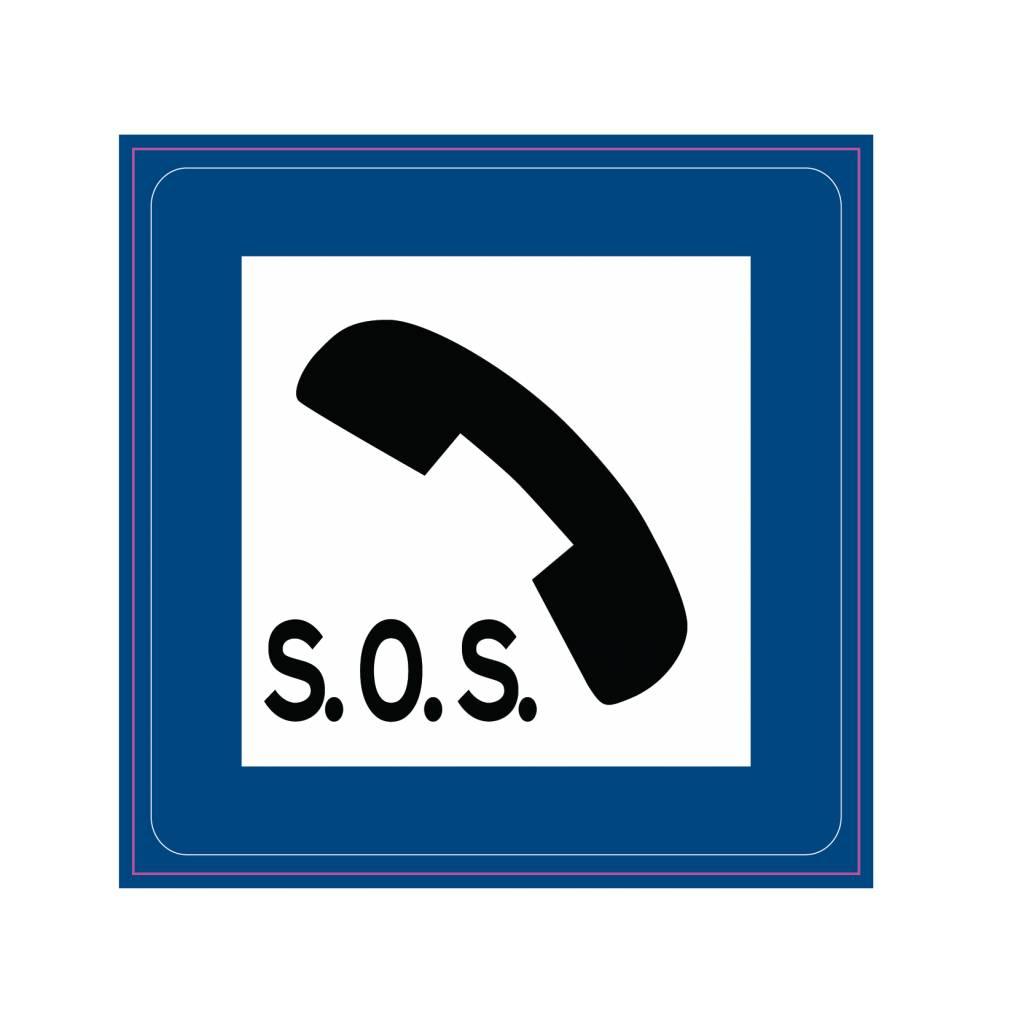 Téléphone d'urgence autocollant