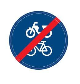 Einde fiets/bromfietspad