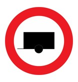 Closed to motor vehicles with trailer