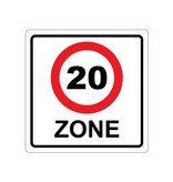 20 km zone Sticker E10(A1-20)