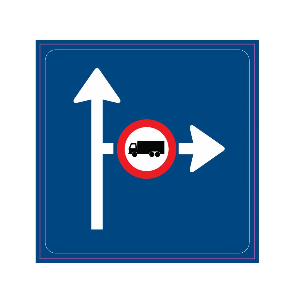 Vorwarnung Durchfahrtsverbot für Kraftfahrzeuge