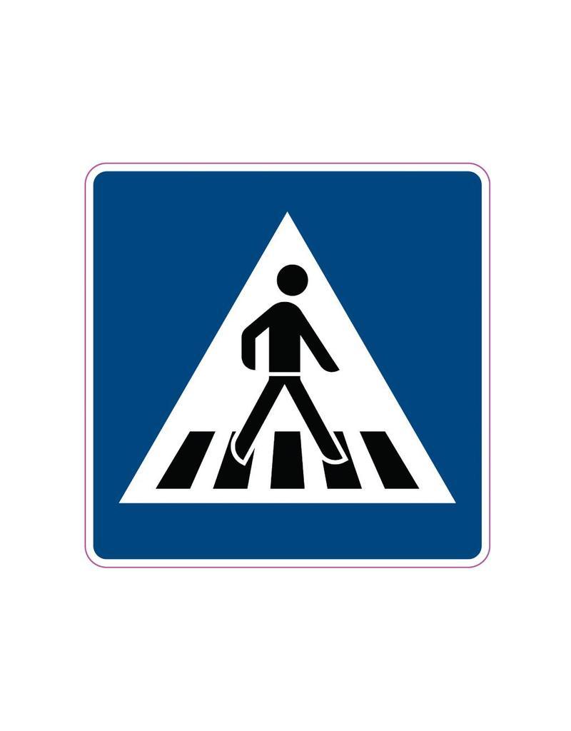 Autocollant passage pour piétons
