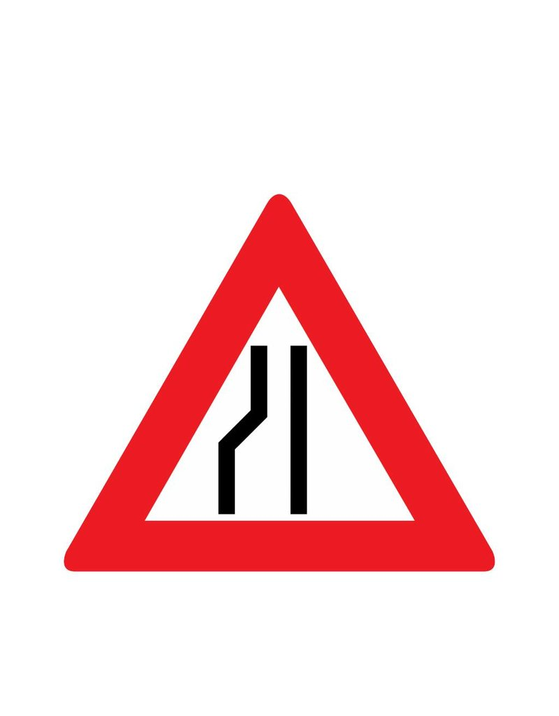 Route se rétrécit à gauche