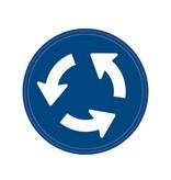 Roundabout: mandatory driving direction