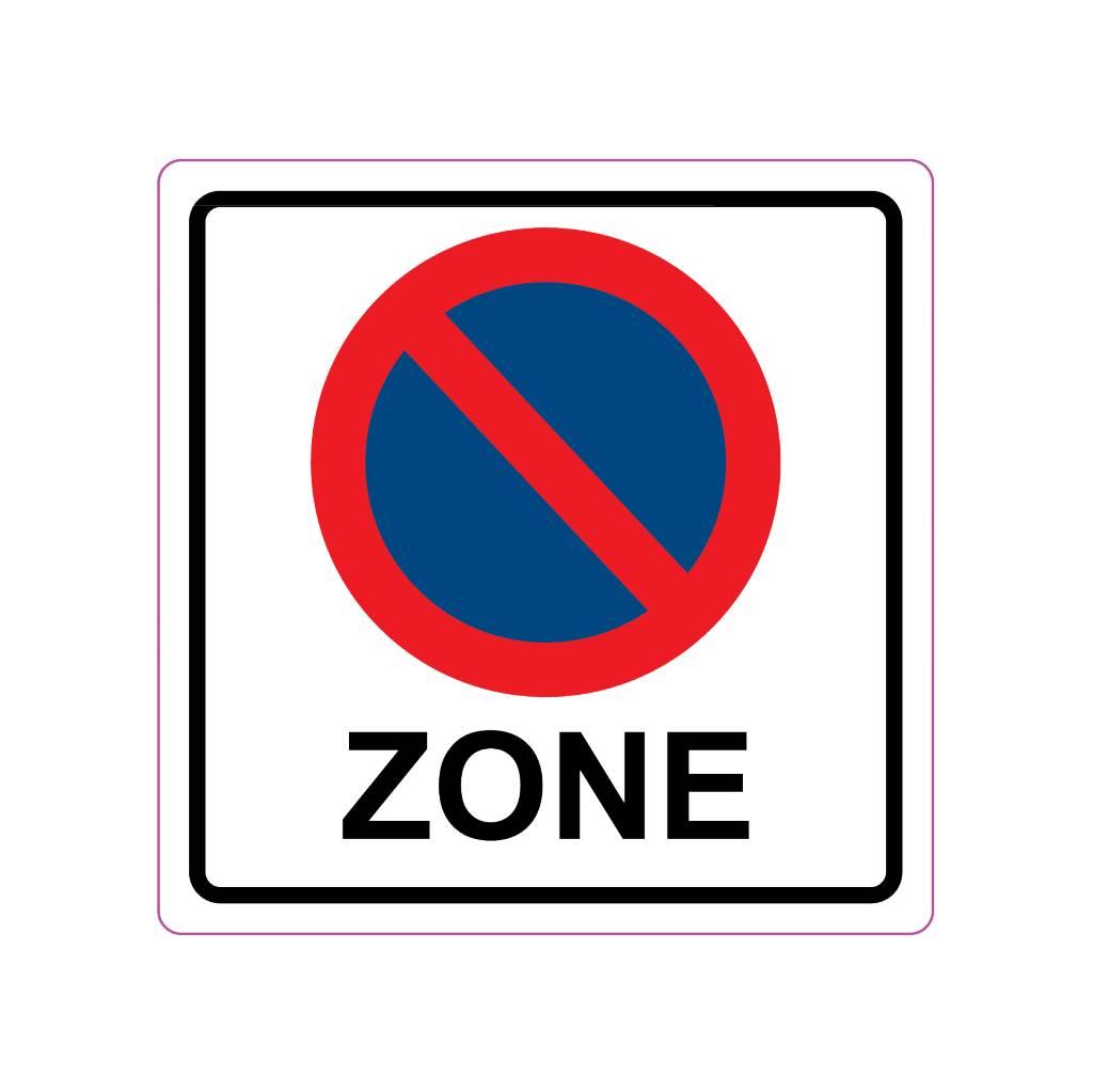 Parking ban Sticker
