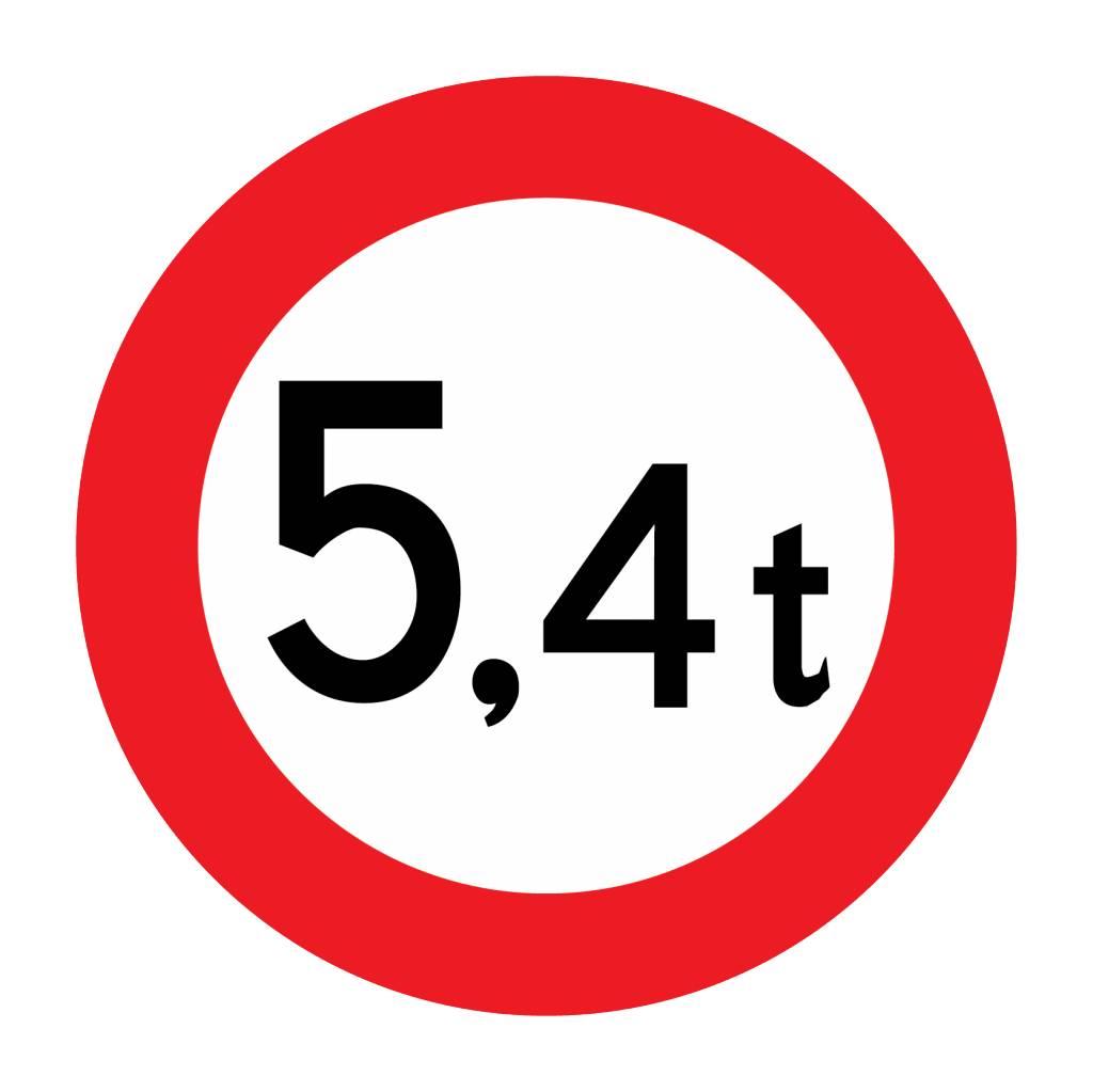 Fermé aux véhicules, de 5.4 t