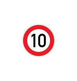 Limite de vitesse 10 km autocollant
