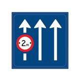 Verkeersbord geldt alleen voor aangegeven rijstrook