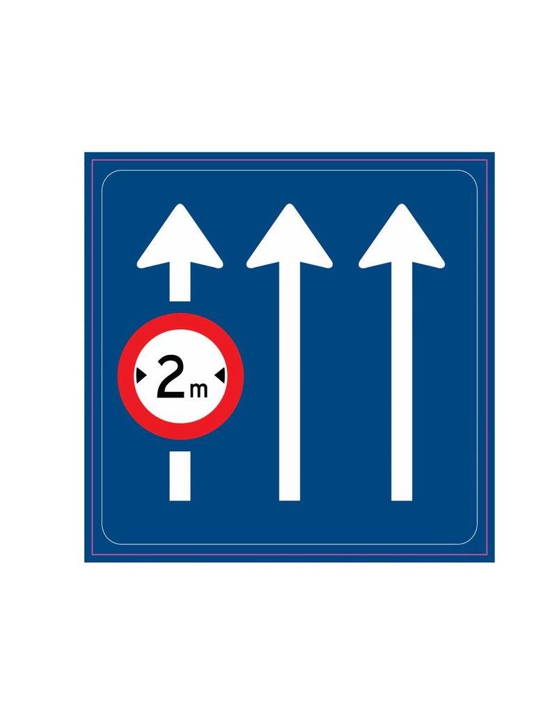 Panneau de signalisation routière s'applique uniquement à la voie indiquée