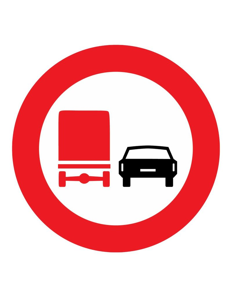 Prohibition for trucks to take over other vehicles