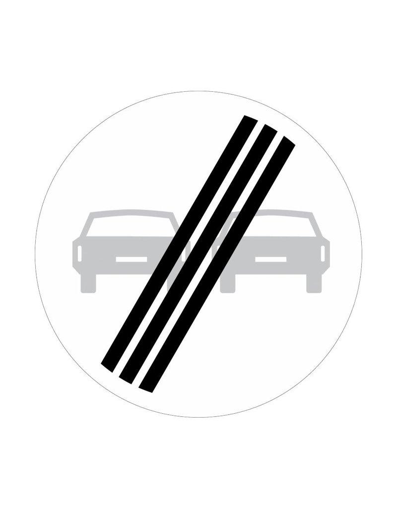 Interdiction de la fin pour les véhicules de dépasser l'autre