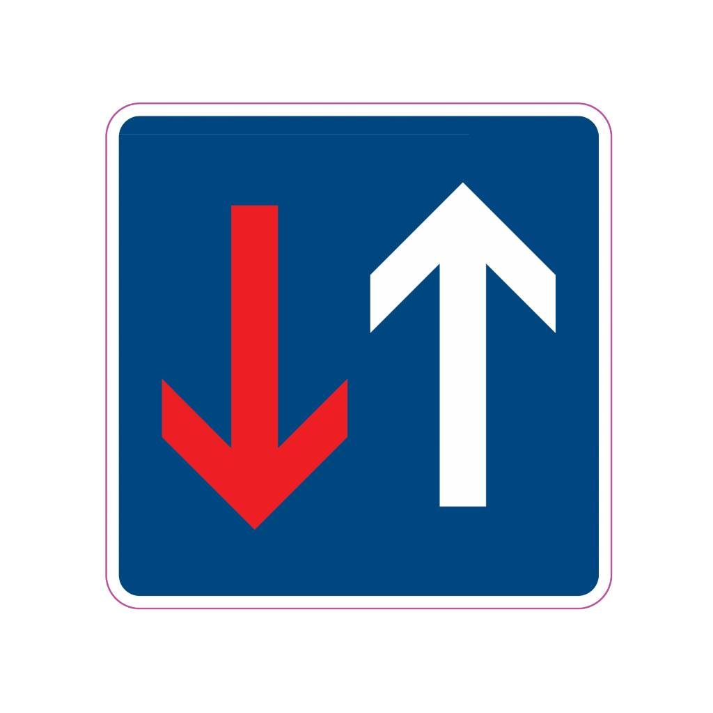 Laisser la priorité pendant circulation inverse