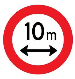 Gesloten voor voertuigen, 10 meter