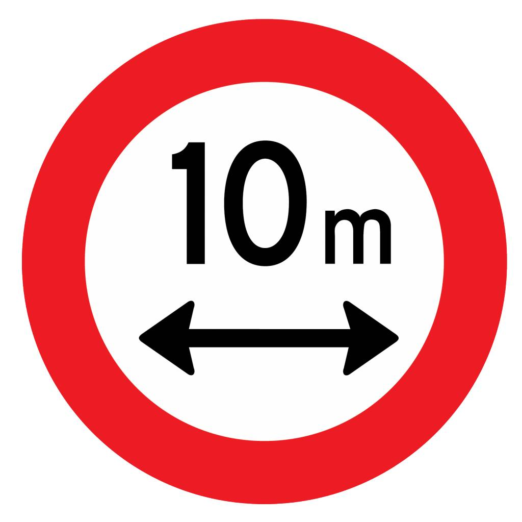 Closed to vehicles, 10 meters
