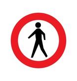 Closed for pedestrians