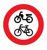Closed for bikes / mopeds, disabled vehicles