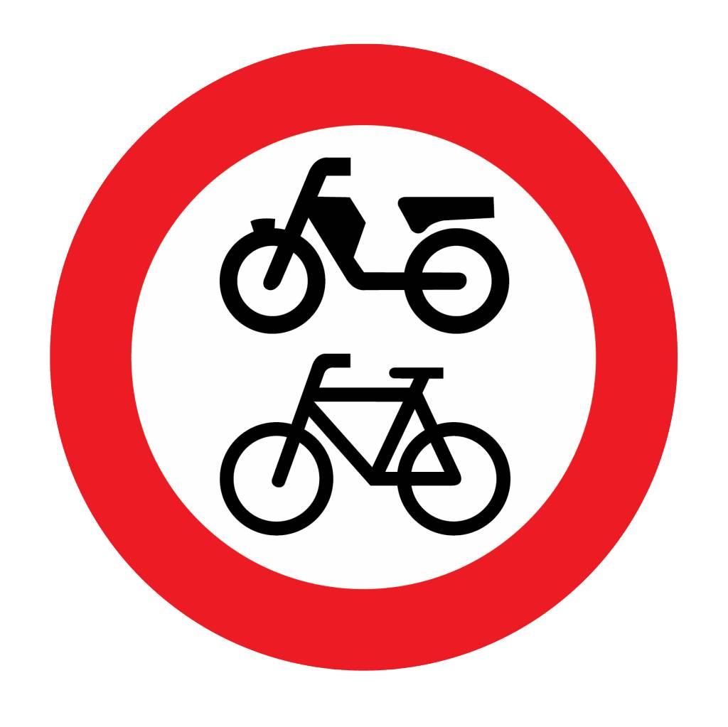 Fermé pour bicyclettes / cyclomoteurs et véhicules handicapés