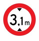 Verbot für Fahrzeuge deren Höhe die Angabe überschreitet