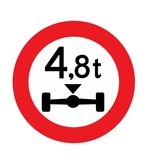 Closed to vehicles, 4.8 t