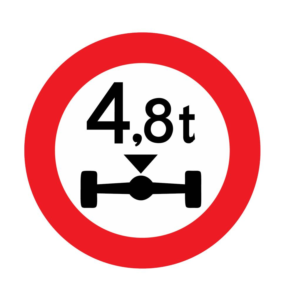 Fermé aux véhicules, de 4.8 t