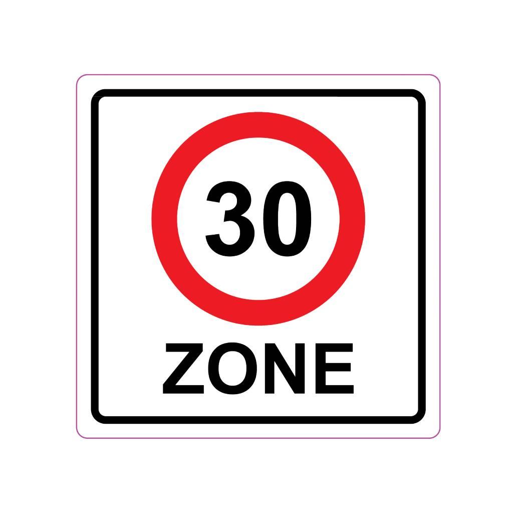 30 km area Sticker E10(A1-30)