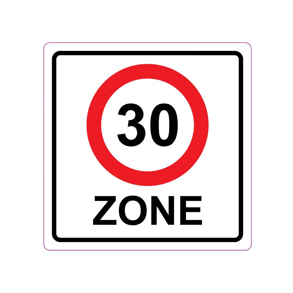 30 Km Zone Sticker E10 A1 30 Dr Sticker