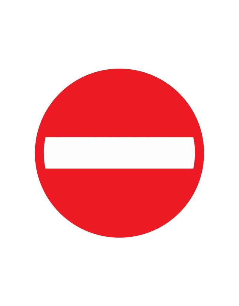 Verbot der Einfahrt für Fahrzeuge aller Art
