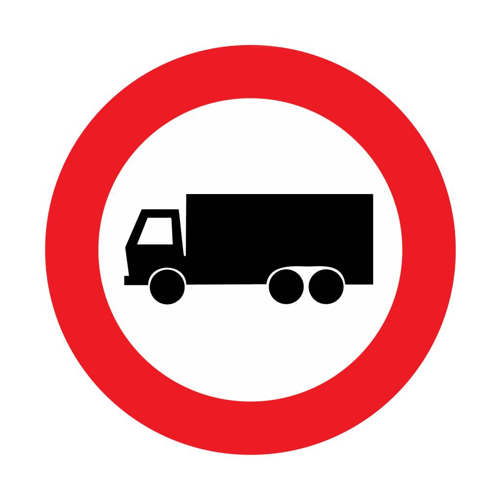 Closed for trucks