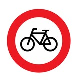 Closed to bicycles and invalid carriages