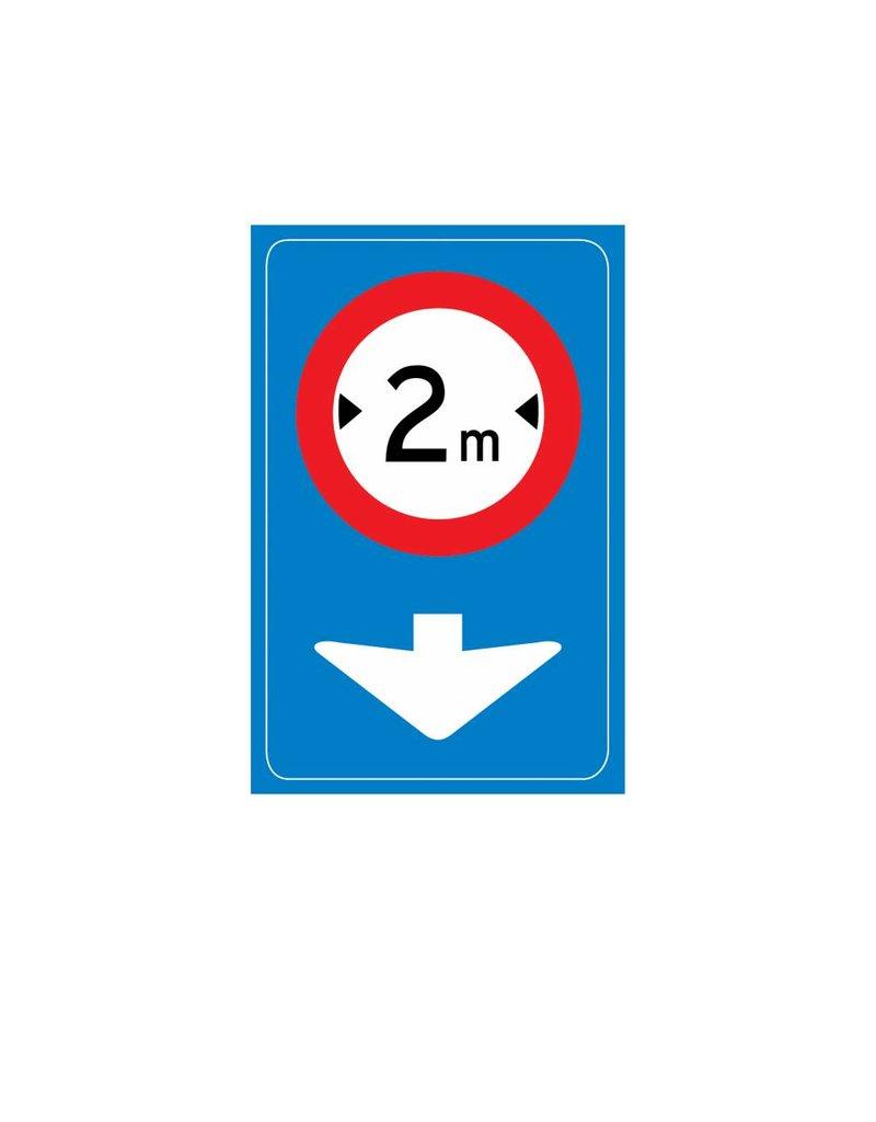 Señales de tráfico sólo es aplicable para carril actual