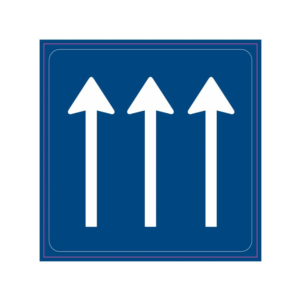 Number of through lanes