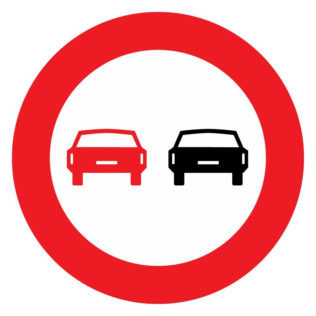 Überholverbot für Kraftfahrzeuge aller Art