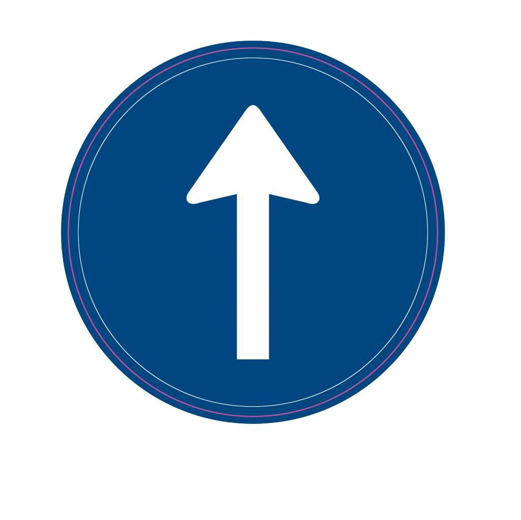 Instruction à suivre la direction de voyage qui est indiqué