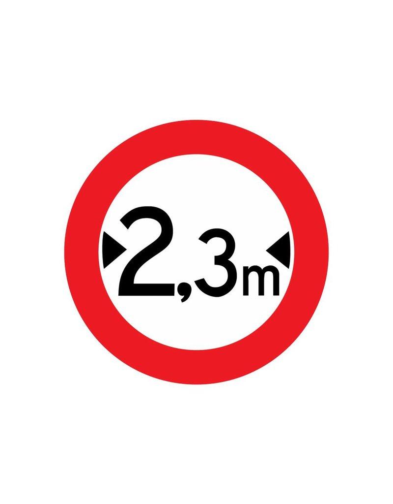 Fermé aux véhicules, de 2.3 mètres