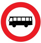 Closed for buses