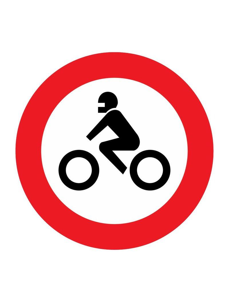 Gesloten voor motorfietsen
